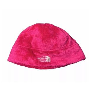 The North Face Pink Beanie Hat Youth Junior Medium